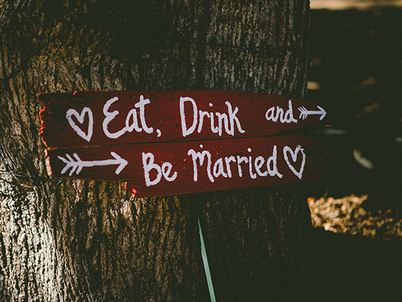 Weddings Sign